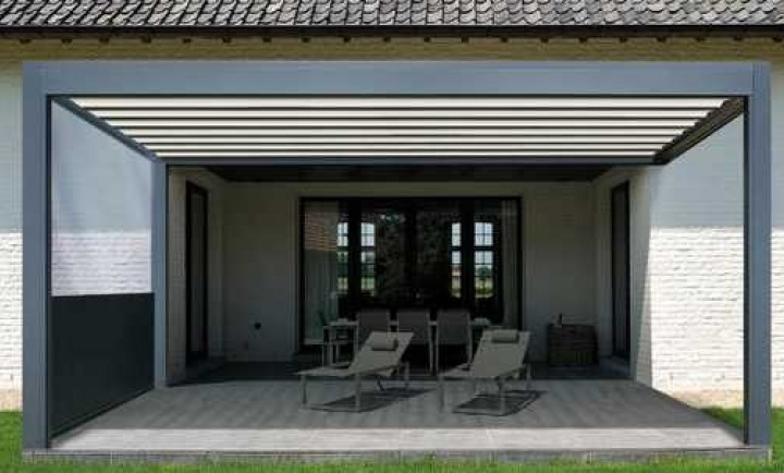 Pergola bioclimatique b300 toile repliable